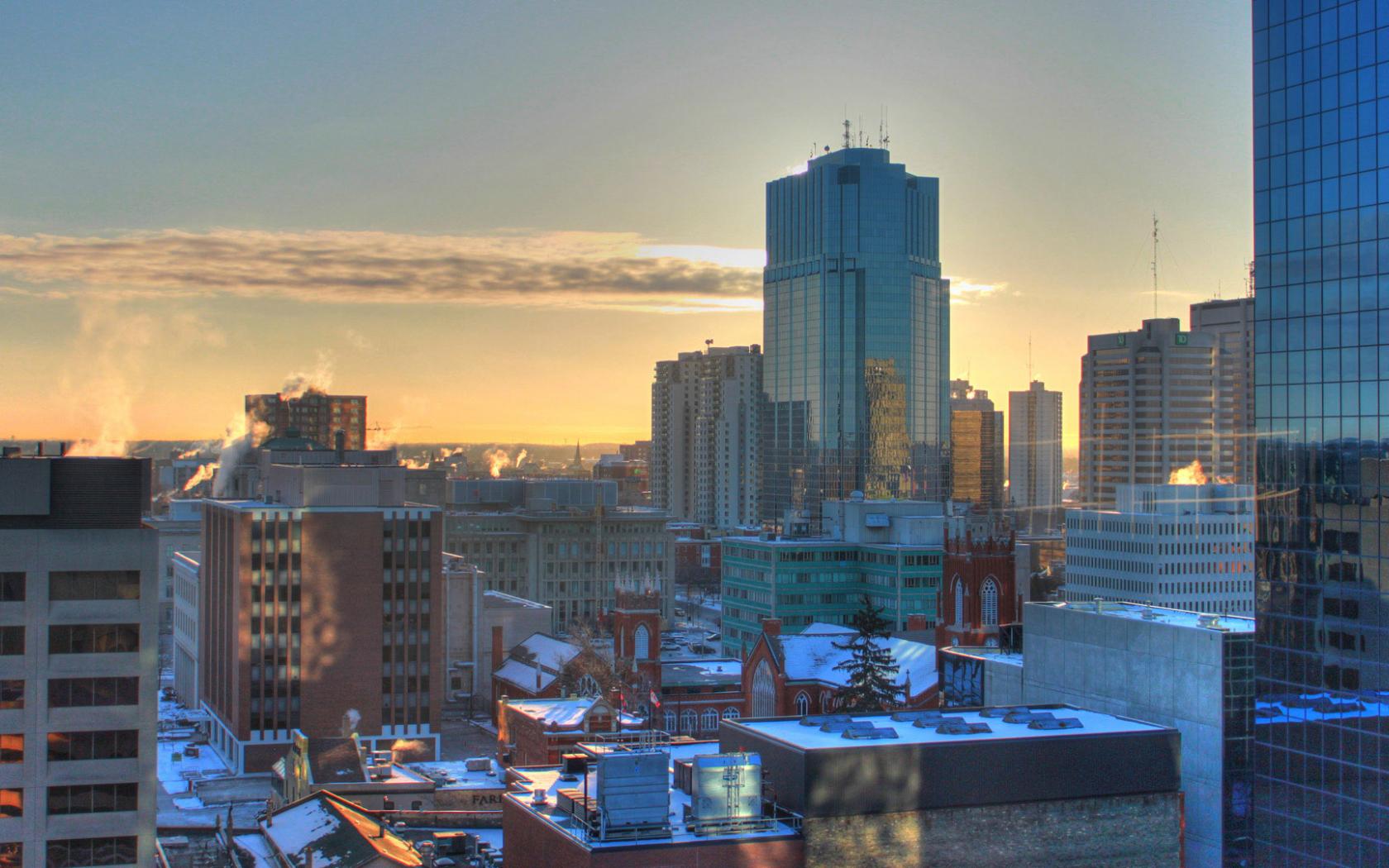 London Ontario on winter Morning city