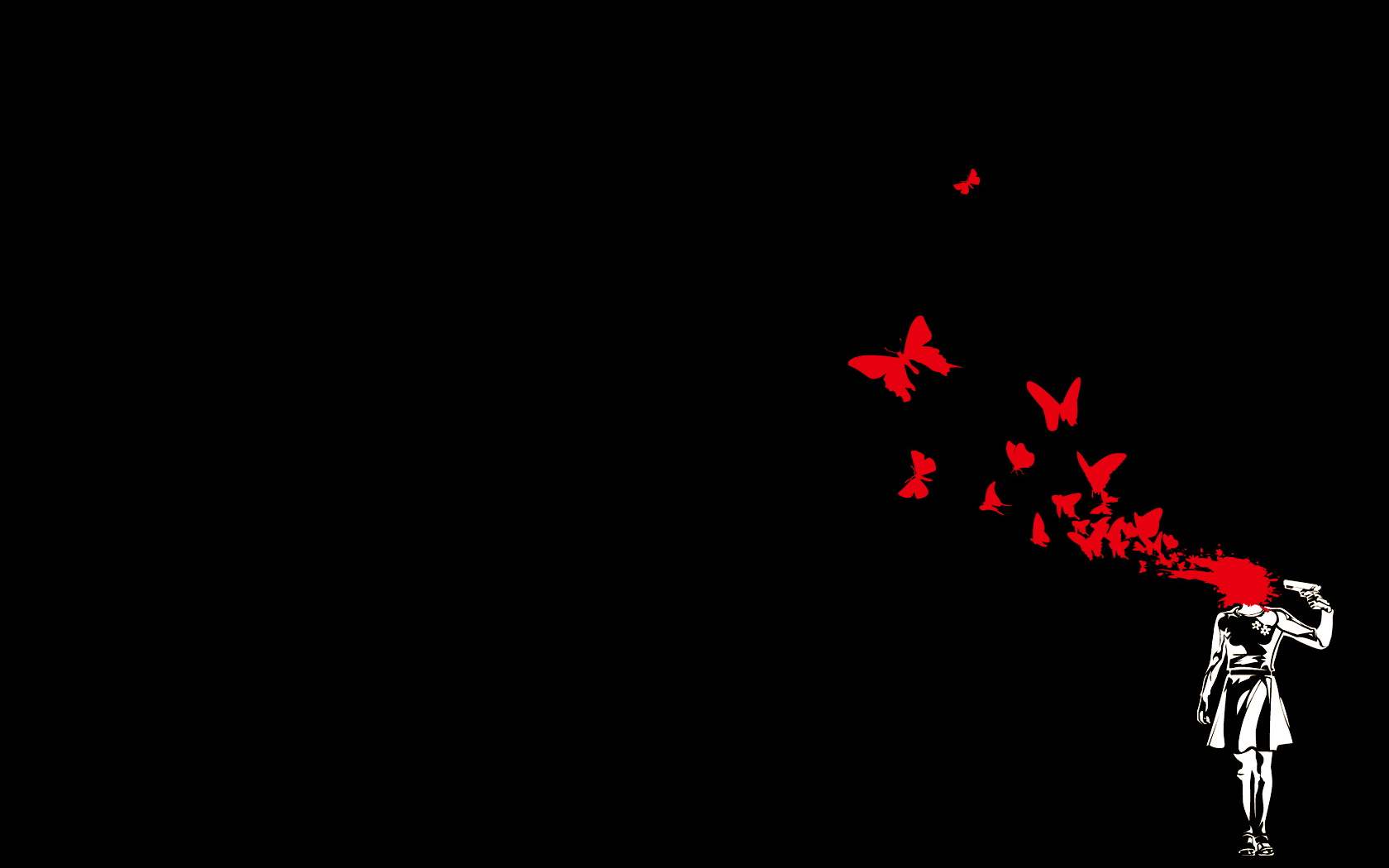 Free Download Black Red Wallpaper 1680x1050 Black Red Butterfly Suicide 1680x1050 For Your Desktop Mobile Tablet Explore 40 Red And Black Anime Wallpaper Red And Black Anime Wallpaper Red
