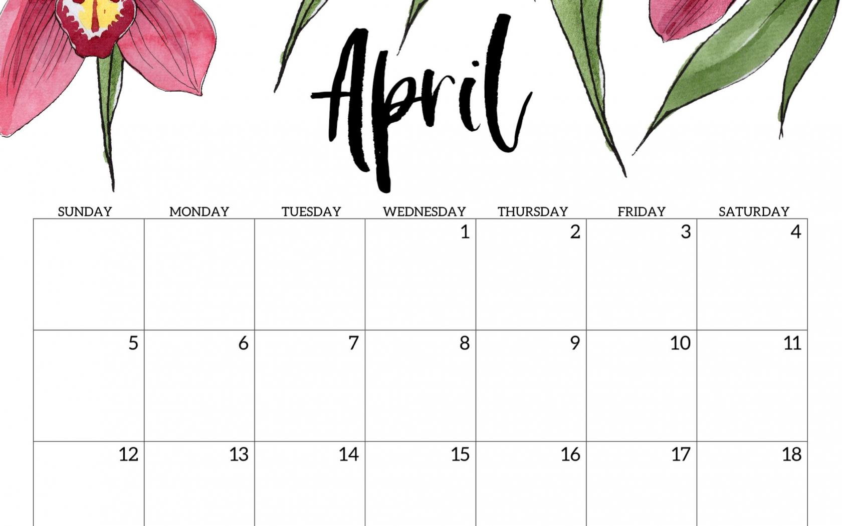 free download april 2020 calendar wallpapers top april