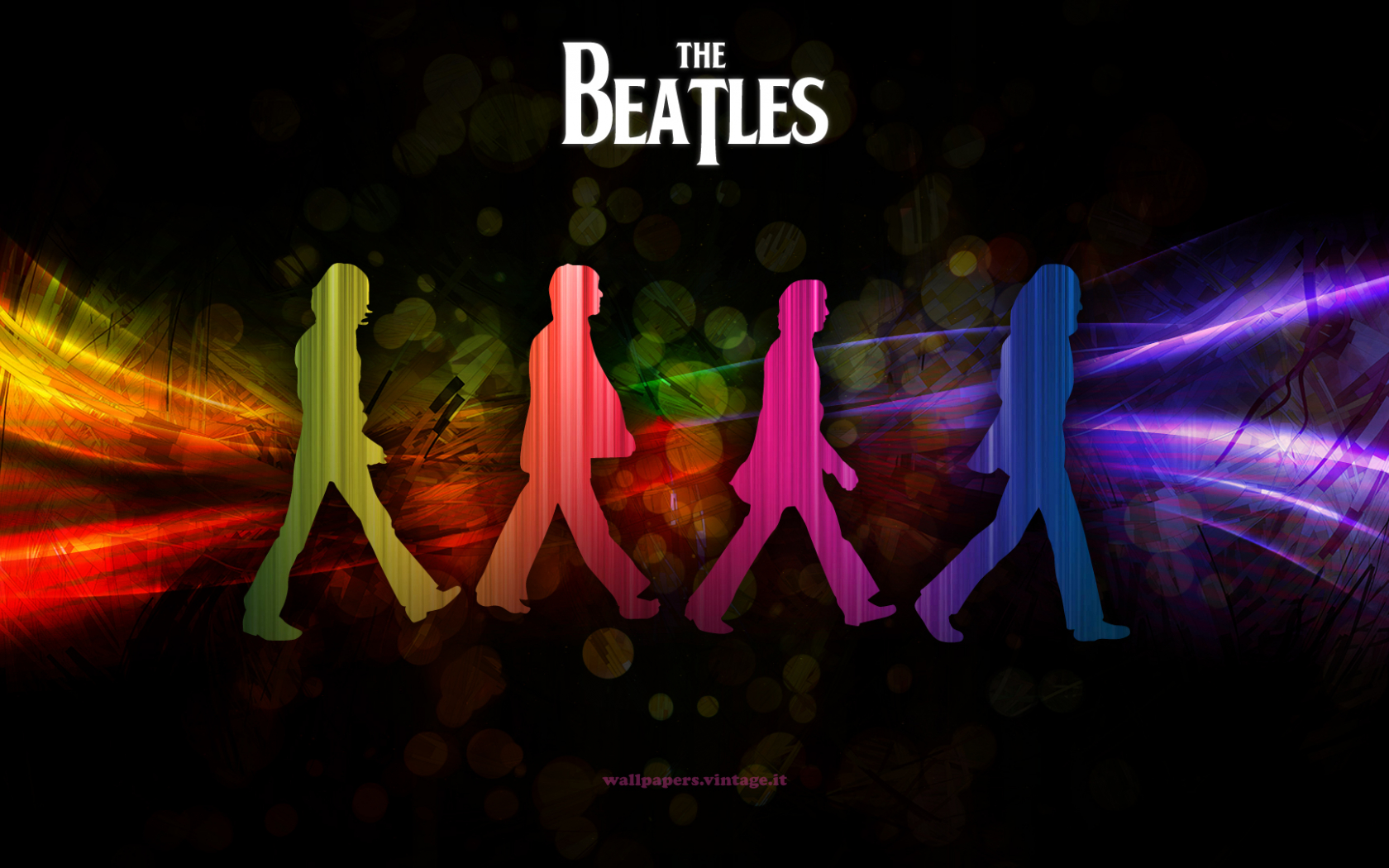Free Download Cool Beatles Wallpaper In Rainbow Colours