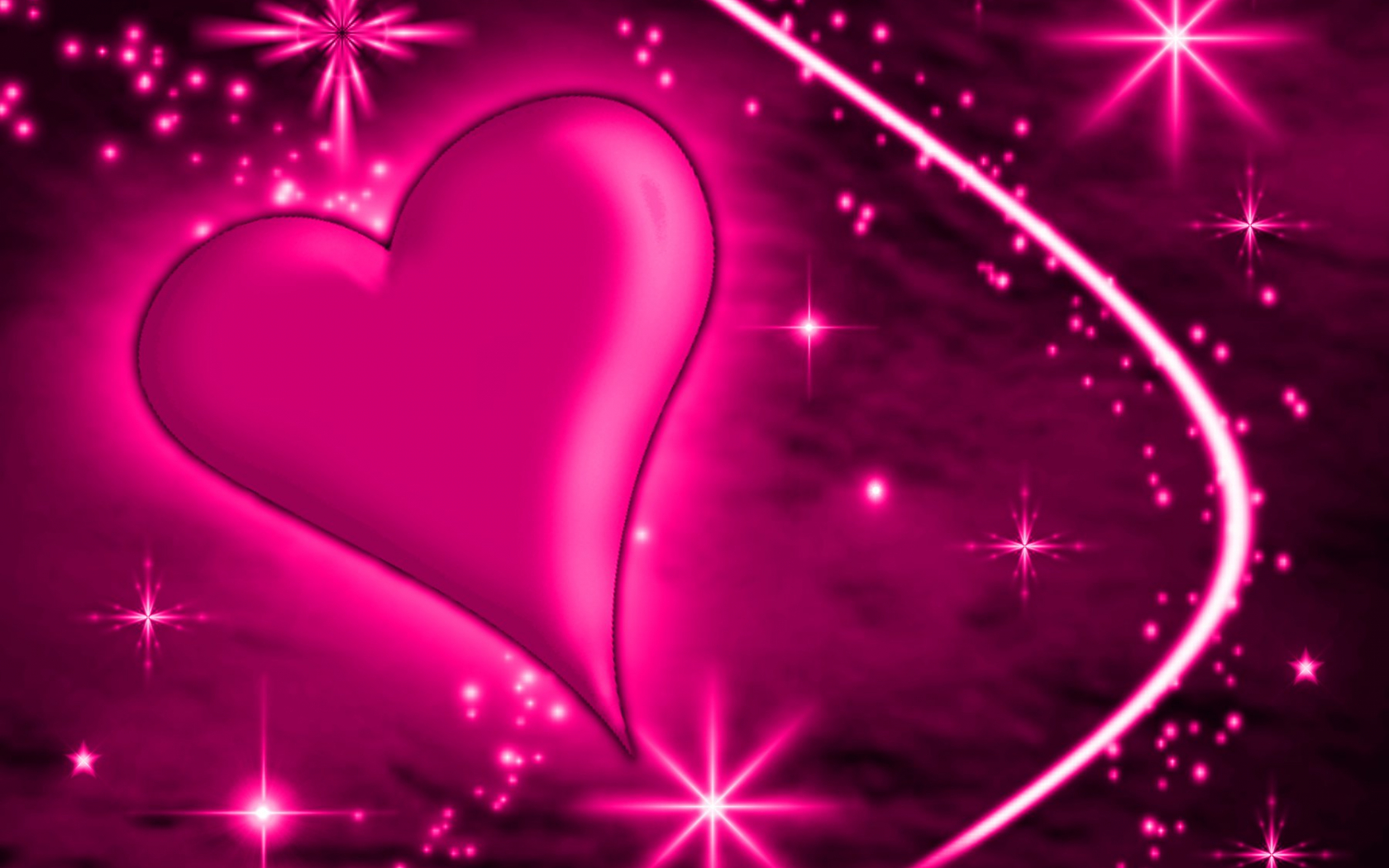 Free Download Pink Heart With Plasma 1800x1600 For Your Desktop