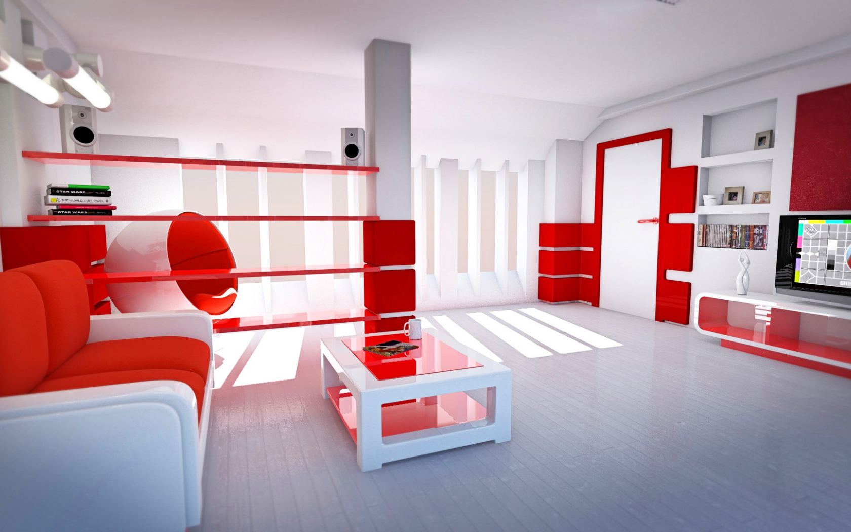 Free download Best Decoration Wallpaper Red White Living ...