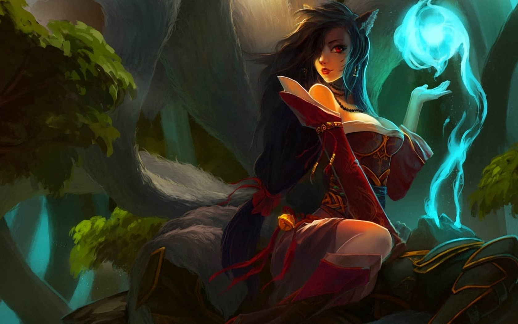 Free Download Ahri League Of Legends Hd Wallpaper Background Lol