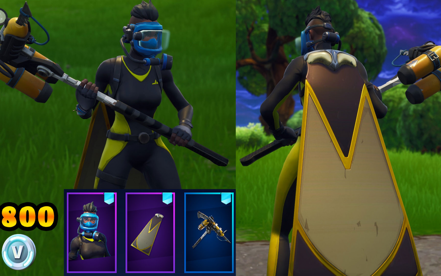 Fortnite Cape free download reef ranger venturion cape harpoon axe 3800 v