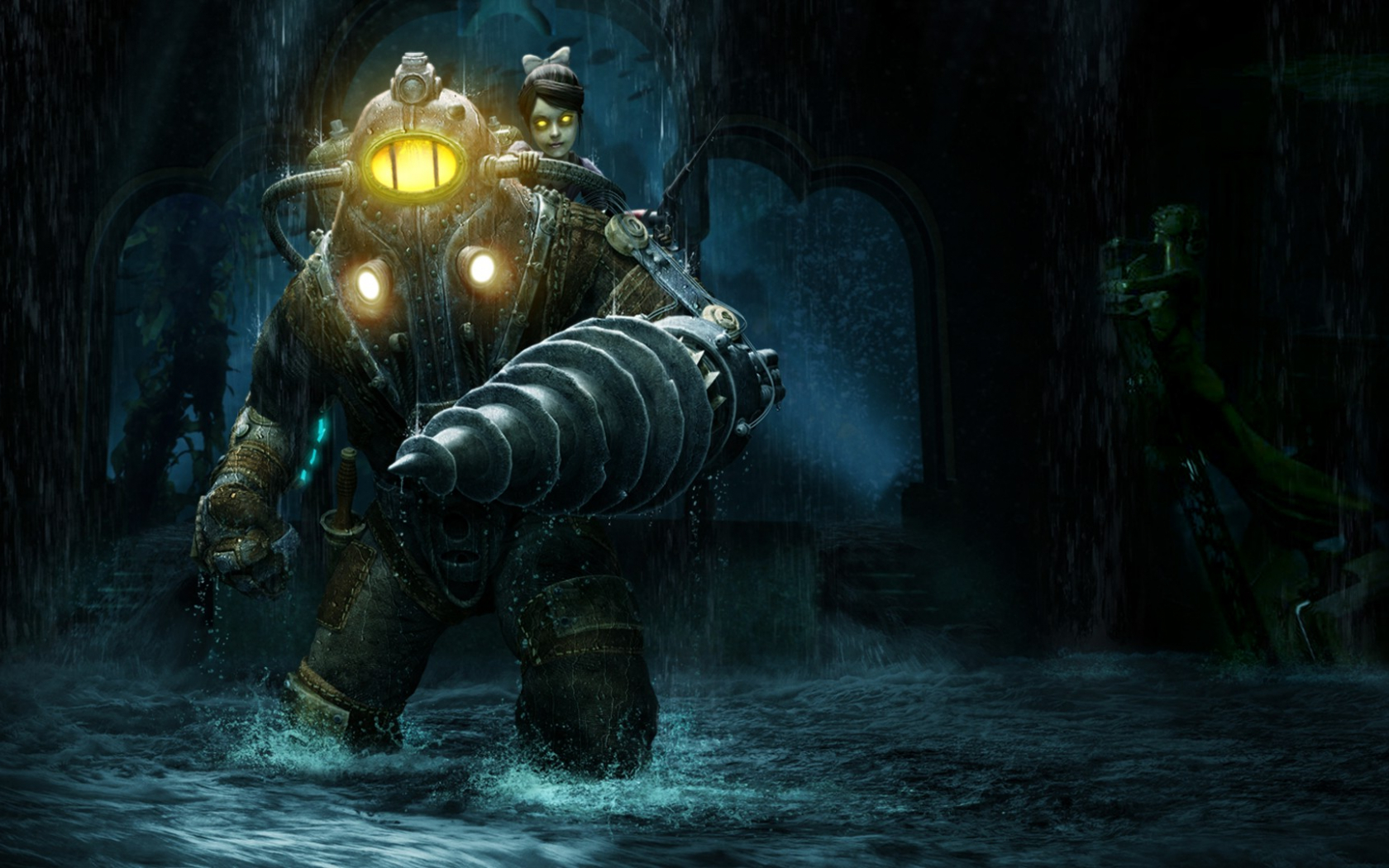 Free Download Bioshock 2 Video Games Big Daddy Little Sister