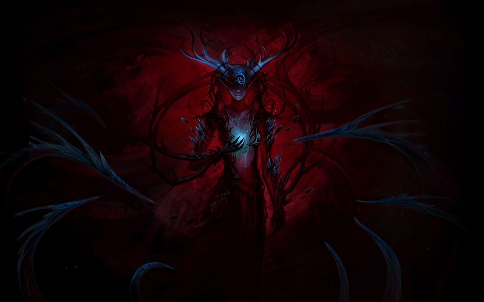 Free Download Dark Fantasy Queen Demon Wallpaper Forwallpapercom