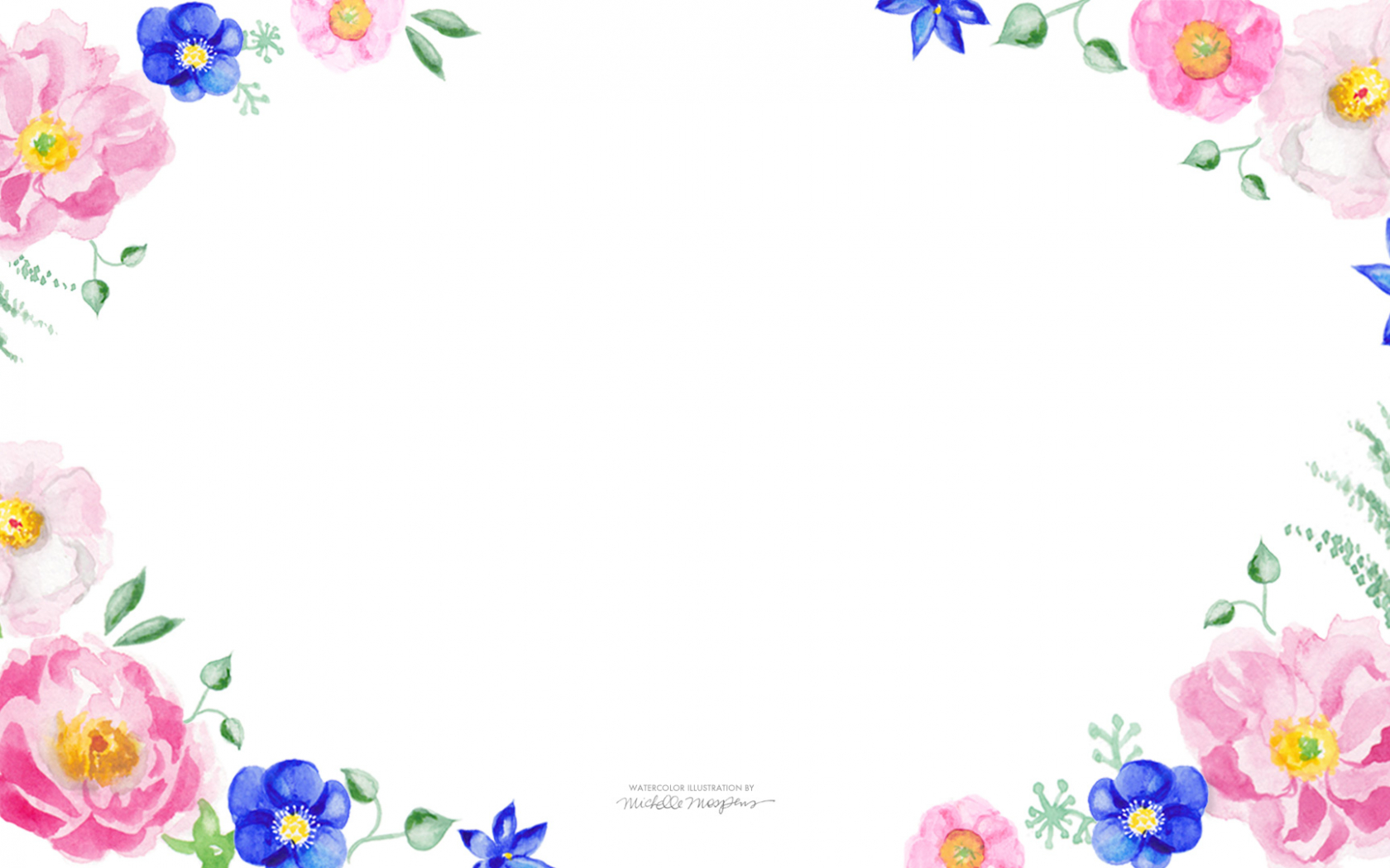Free Download Floral Watercolor Wallpaper Download A Watercolor