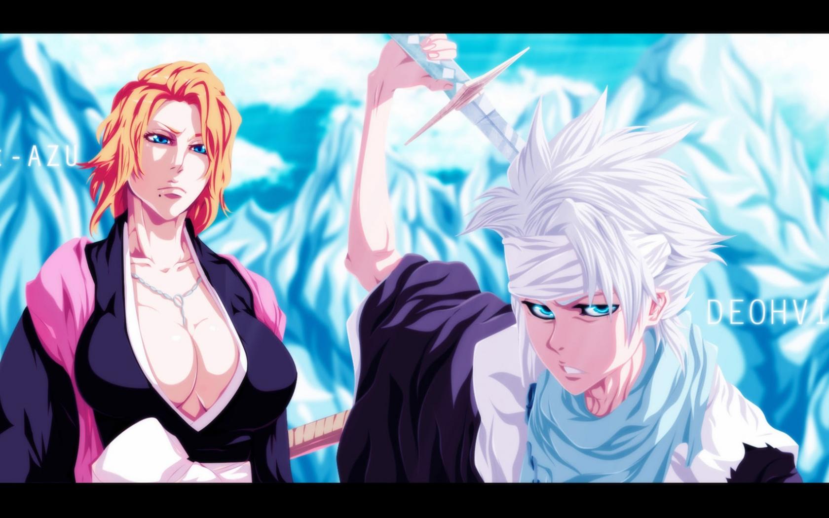 Free Download Toshiro Hitsugaya Rangiku Anime Bleach Hd Wallpaper