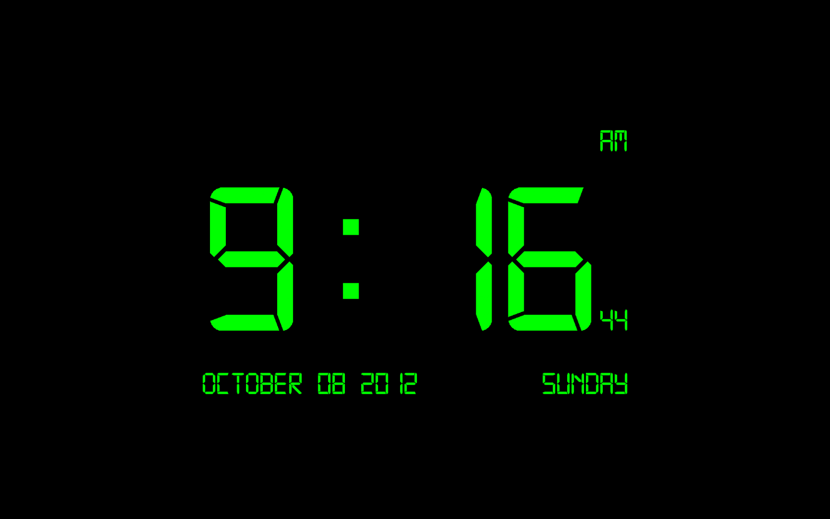Free download Digital Clock 7 Digital Clock 7 is a screen