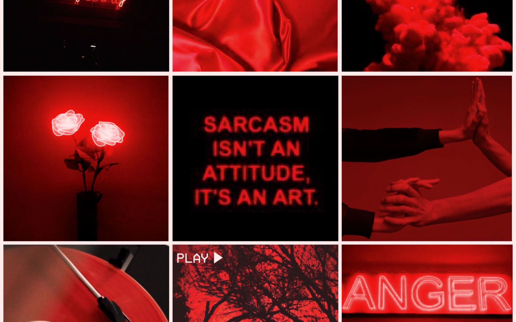 Black And Red Aesthetic Wallpaper