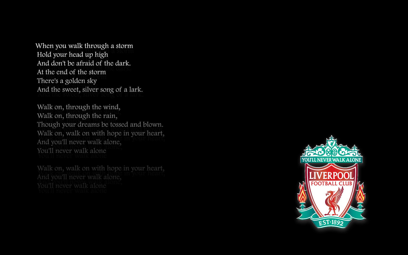 Free Download You Ll Never Walk Alone By Klawatsch 1680x1050 For