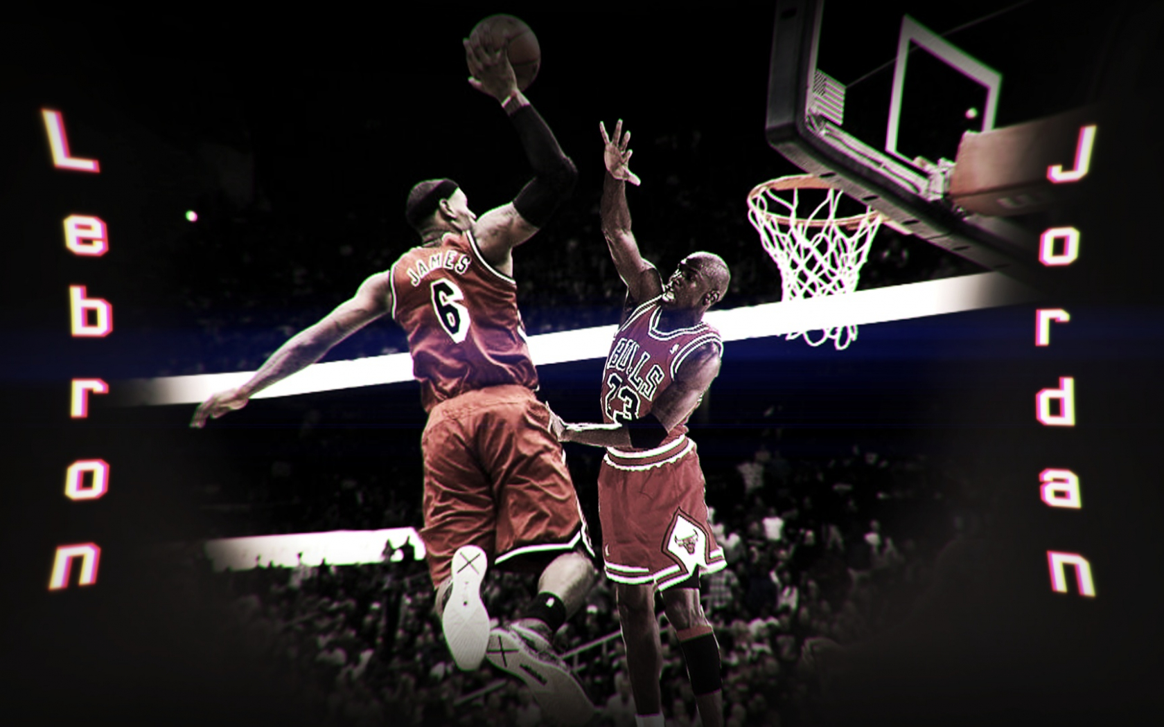 Free Download Lebron James Dunking On Michael Jordan By