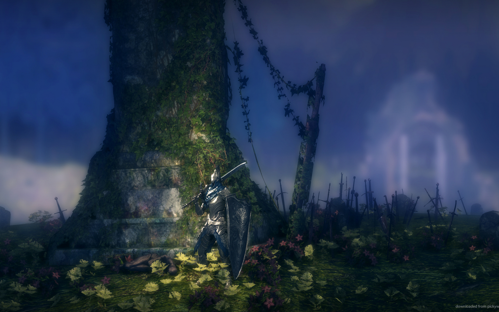 Free Download Dark Souls Posing Near Tree Picture 1920x1080 For