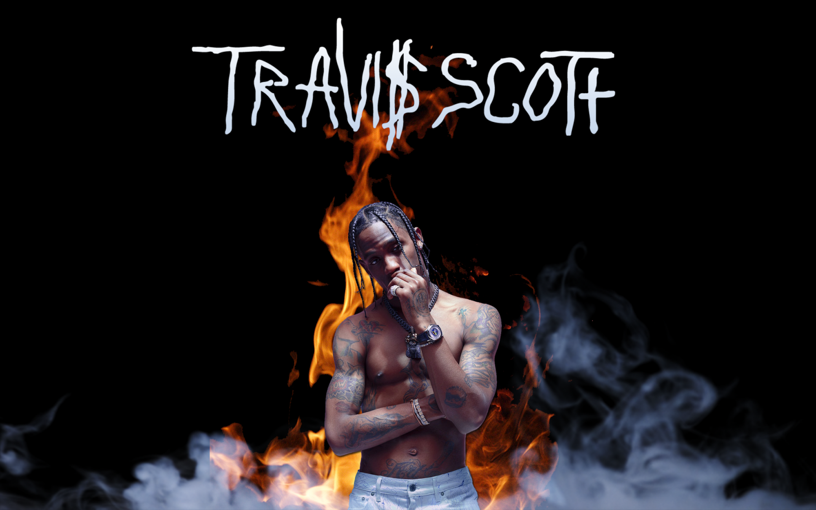 Free Download Travis Scott Minimalistic Wallpaper
