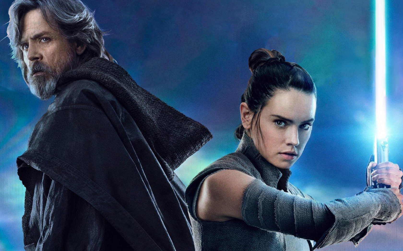 Free Download Hd Luke Skywalker And Rey Star Wars The Last Jedi