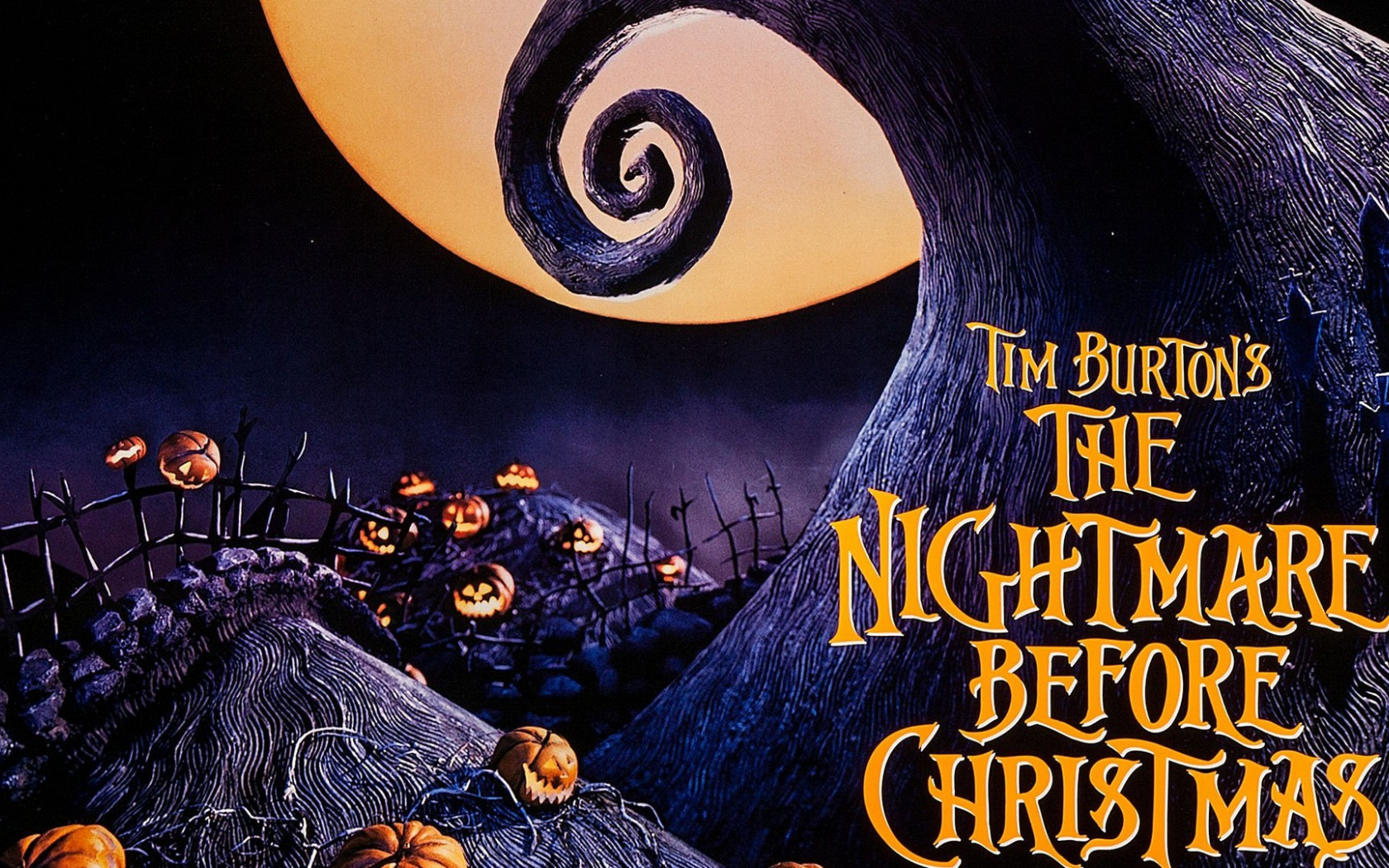 Free Download Nightmare Before Christmas Full Hd Background