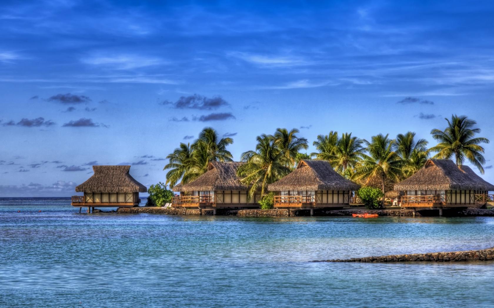 Free Download Maldives Island Hotel Hdr Full Hd Desktop