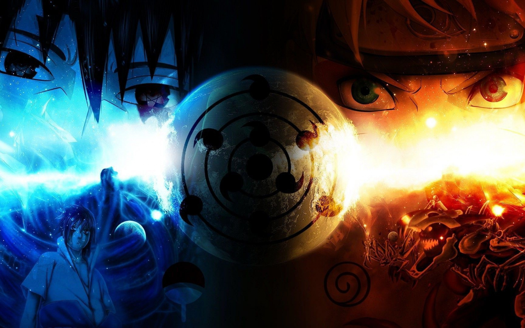 Free download Naruto Fire And Ice HD Anime Wallpaper ...
