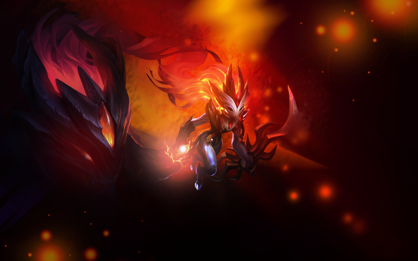 Free Download Shadowfire Kindred Fanart League Of Legends