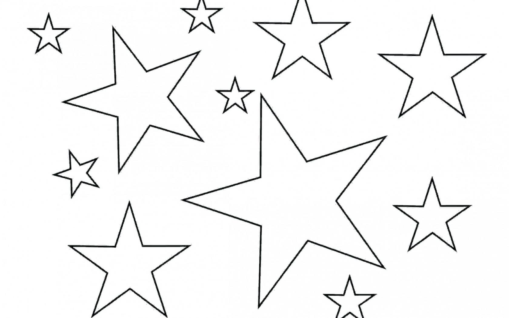 Free 005 Stars Outlines Printables Star Outline