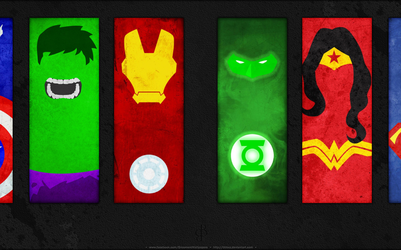 Download DC Marvel Minimalistic Dual by bbboz [3840x1080 ...