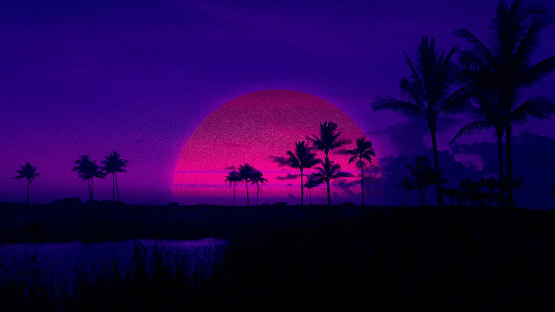 Free Download Palm Trees Retrowave Retrowave Purple Sunset Hd Wallpaper 3024x1701 For Your Desktop Mobile Tablet Explore 47 Retrowave Wallpapers Retrowave Wallpapers