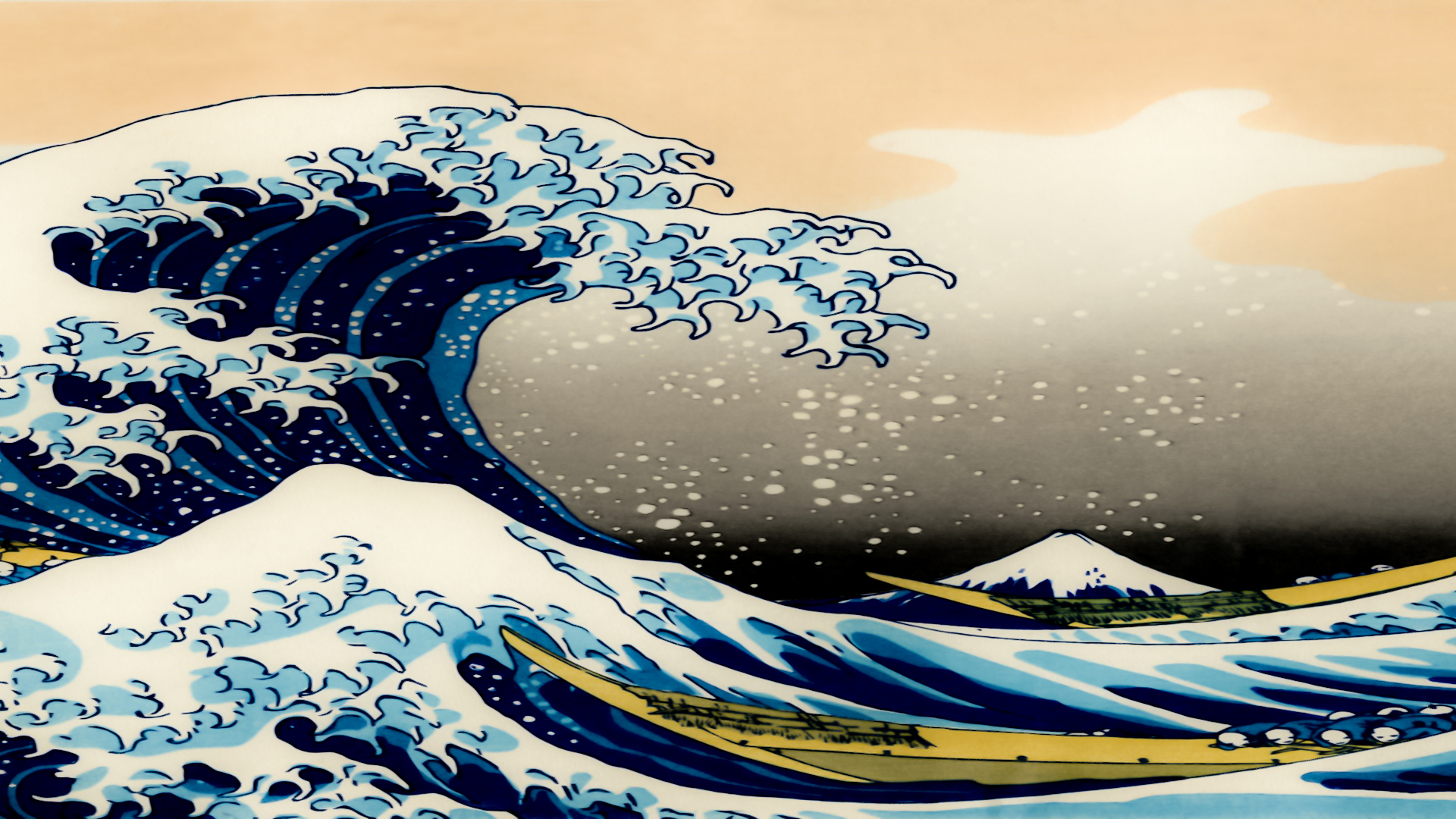 Free Download The Great Wave Off Kanagawa Wallpaper 3200x1080