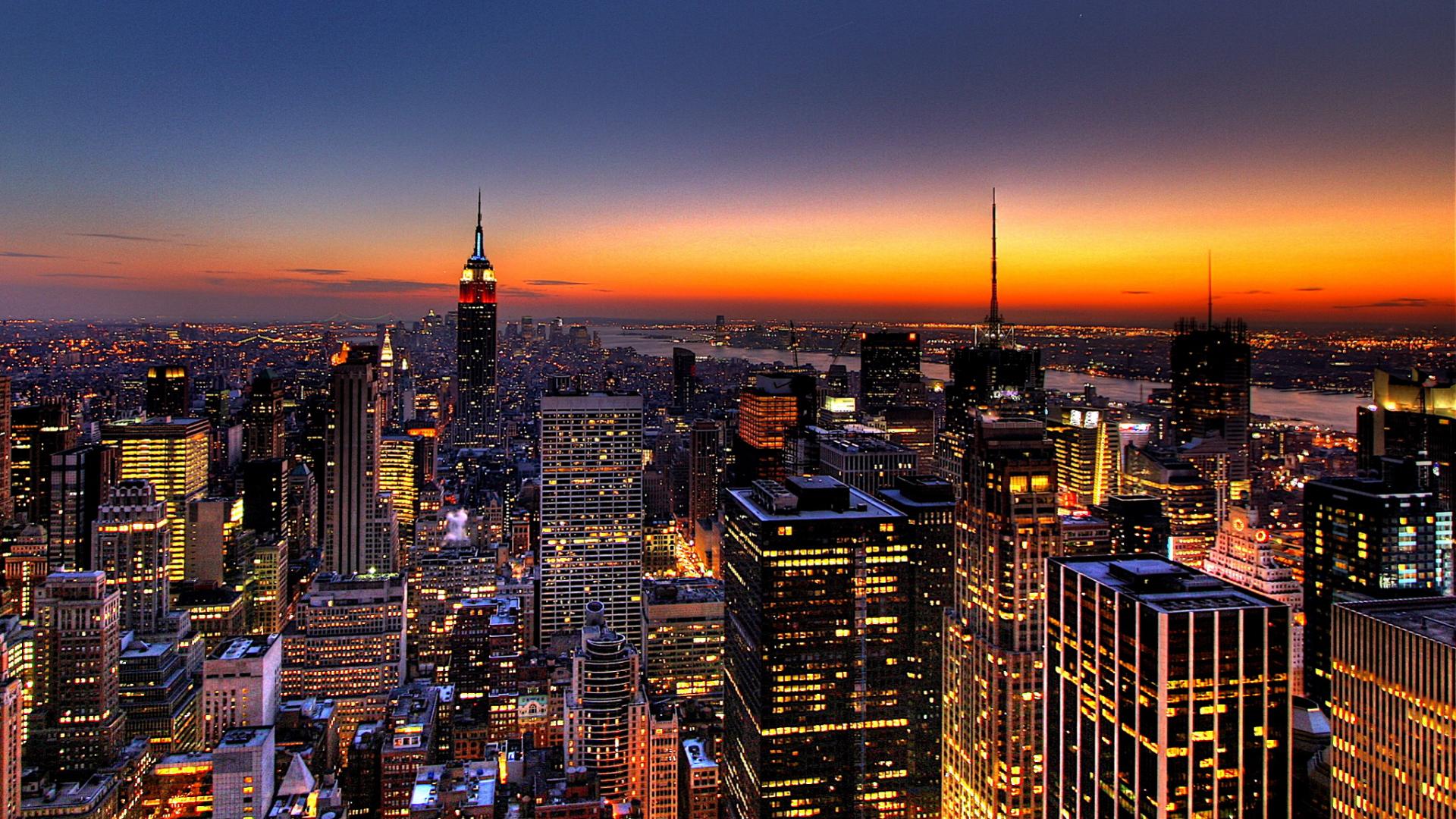 Free Download City Beautiful Night Hd Wallpaper New York City
