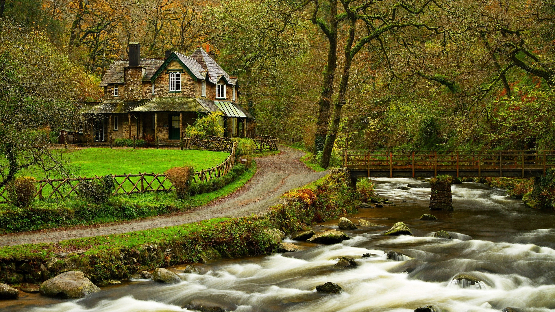 Free Download Wallpaper House In The Woods Hd Wallpaper Expert
