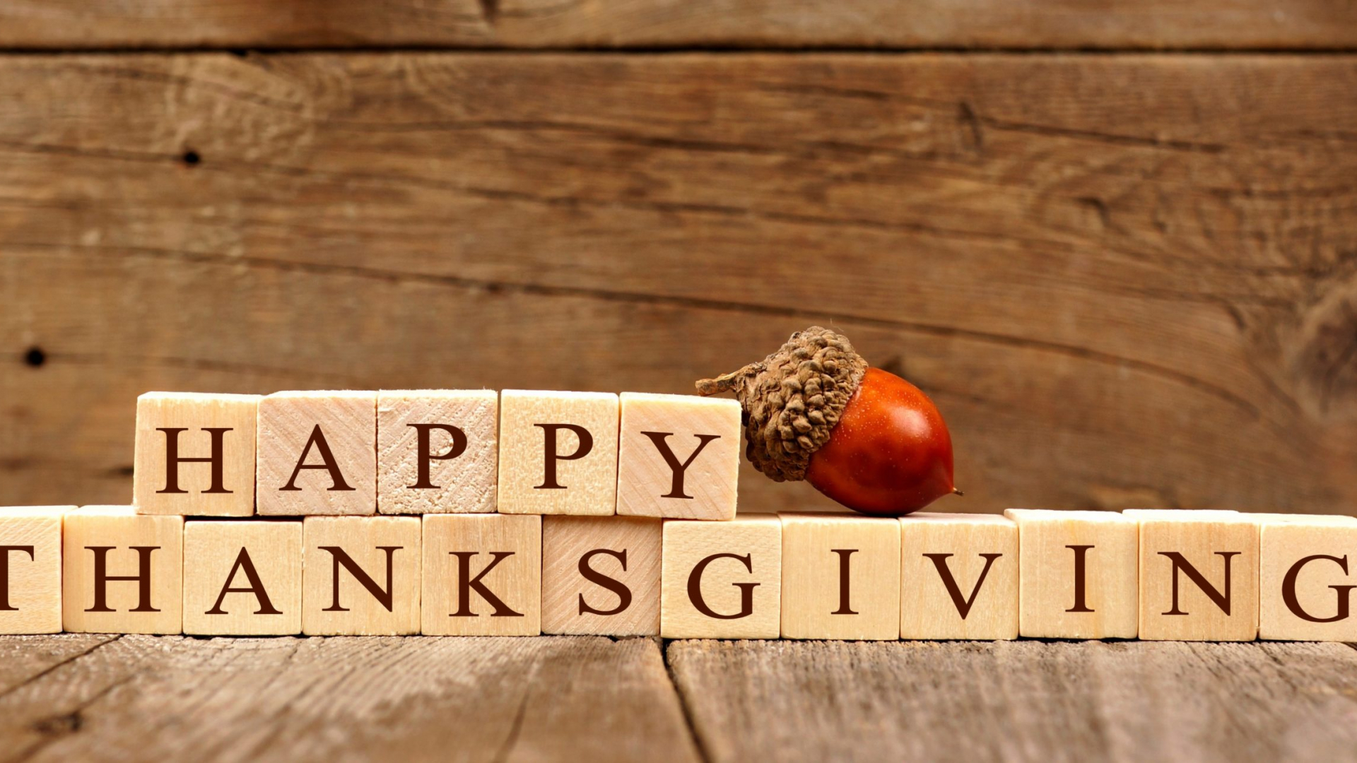 Free Download Happy Thanksgiving Wooden Blocks Against A