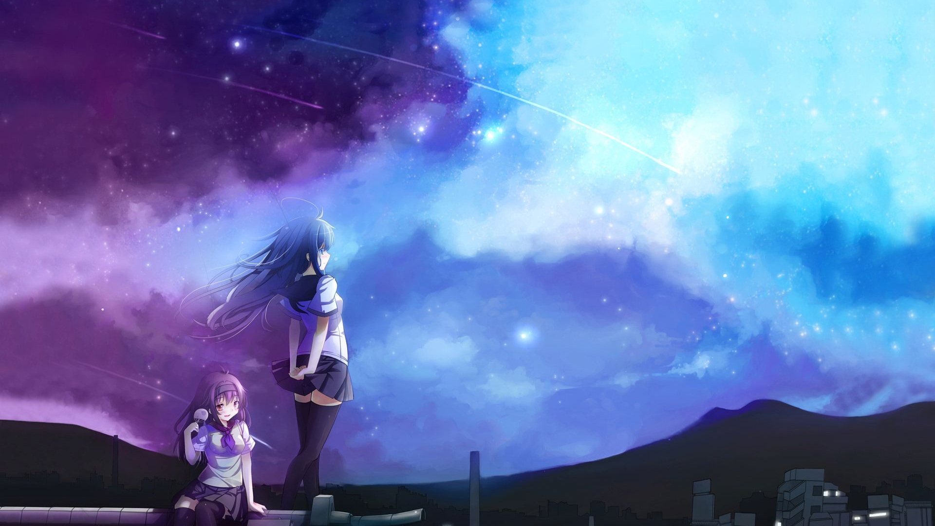 Free Download Girl Looking At The Sky Wallpaper 1204997 1920x1200
