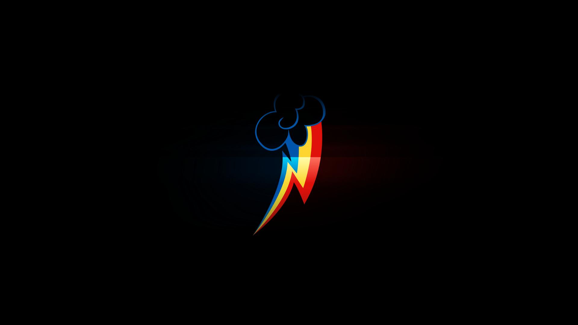 Free Download Black Minimalistic Dark My Little Pony Rainbow Dash