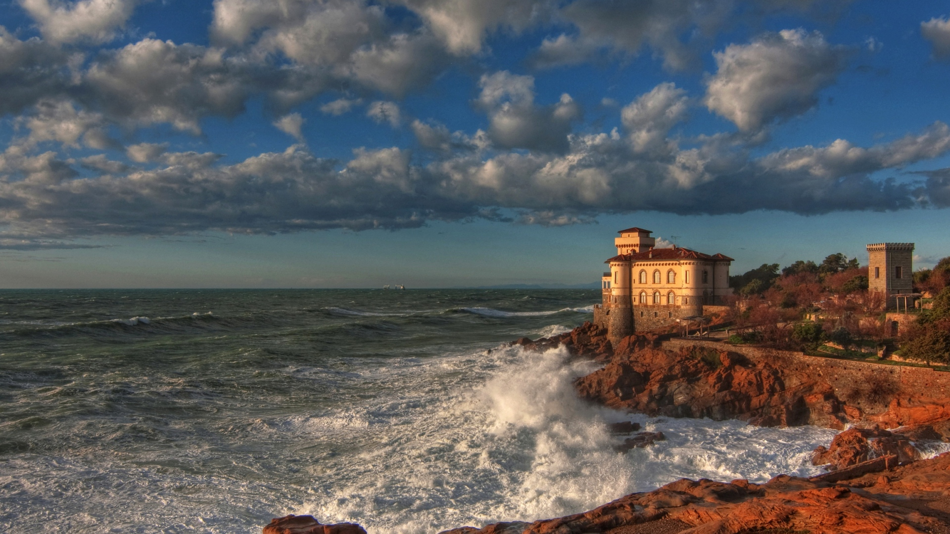 Free Download Boccale Castelo Livorno Nuvens Hdr 4k Hd