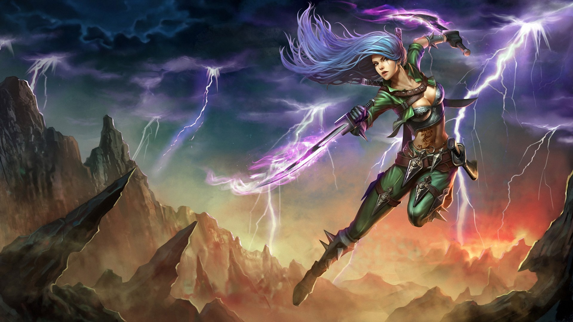 Free Download League Of Legends Katarina Hd Wallpaper 1920x1080