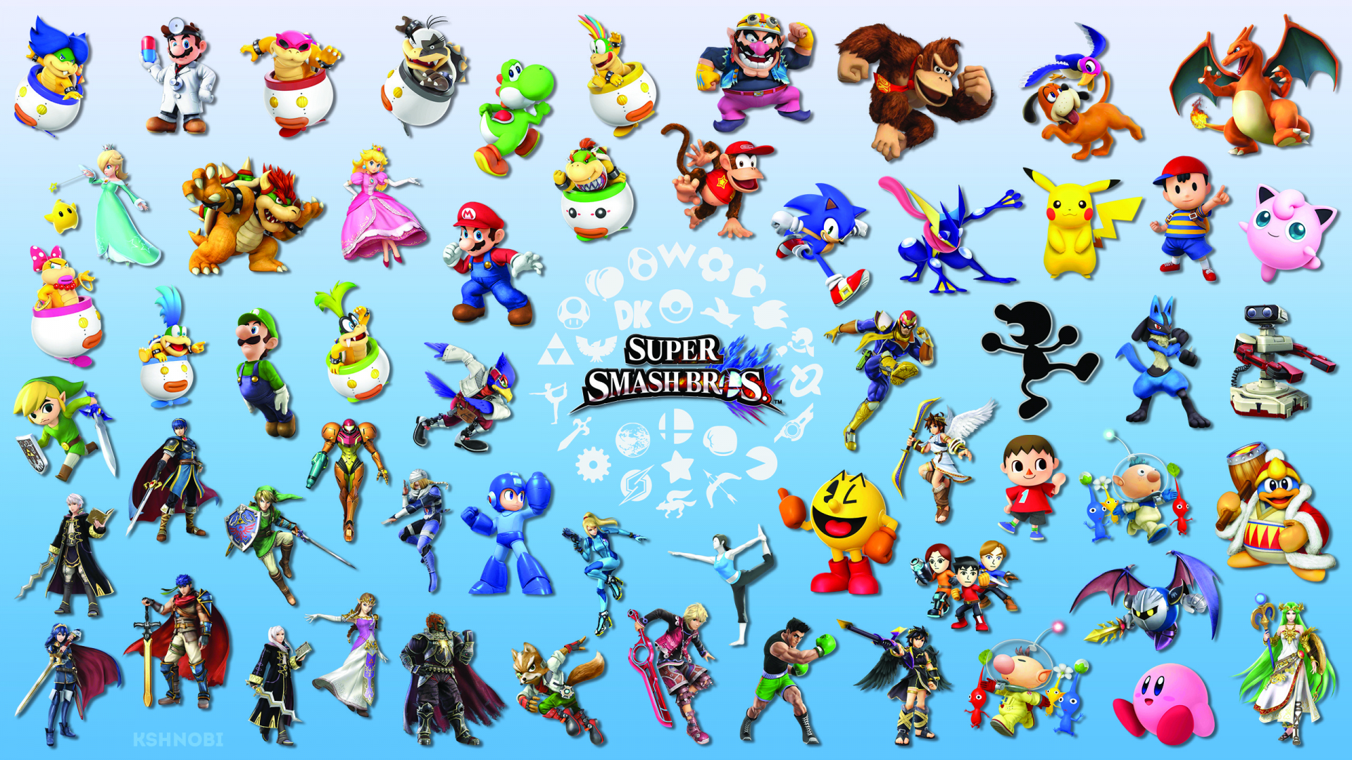 Free Download Super Smash Bros 4 Logo Wallpaper Super Smash Bros 4