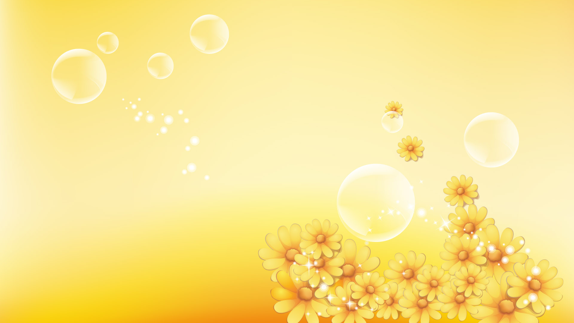 Free Download Yellow Floral Background Wallpaper 34907 1920x1200