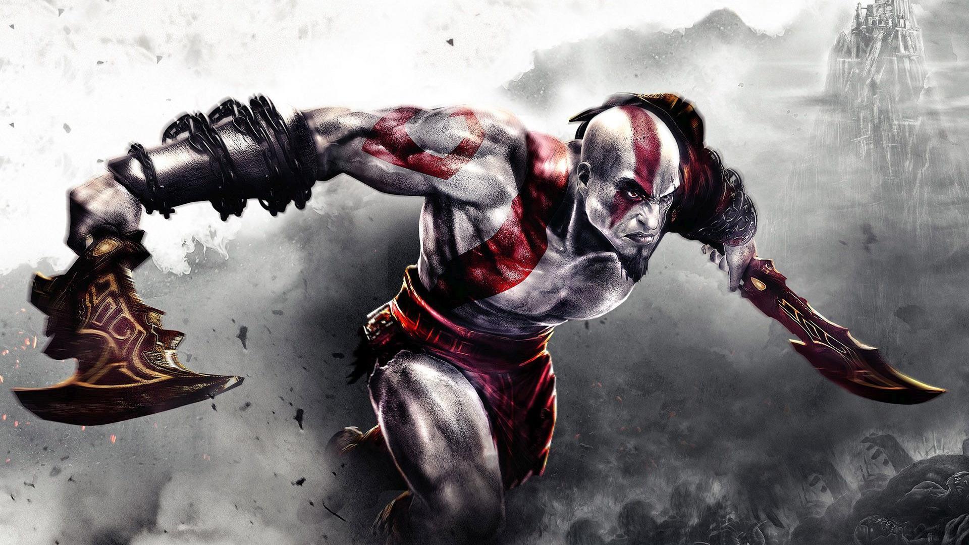 Free Download Kratos Fighting In God Of War 3 Wallpaper