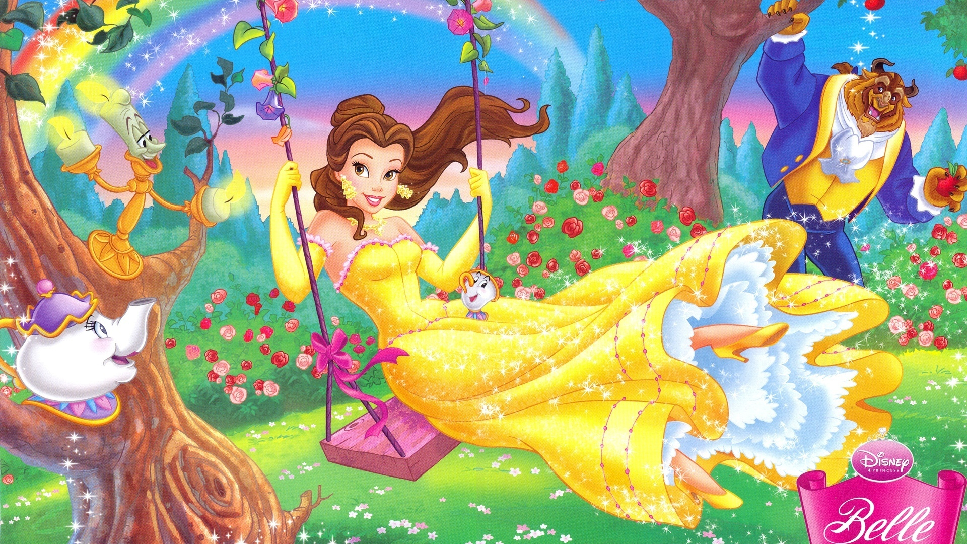 Free Download Belle And Beast Disney Couples Wallpaper 7359497