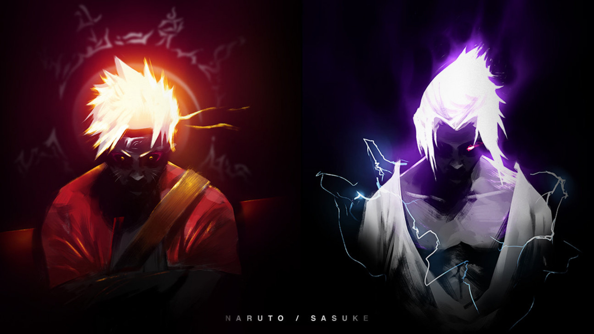 Free Download Hd Wallpaper Naruto Sage Mode And Sasuke Chidori