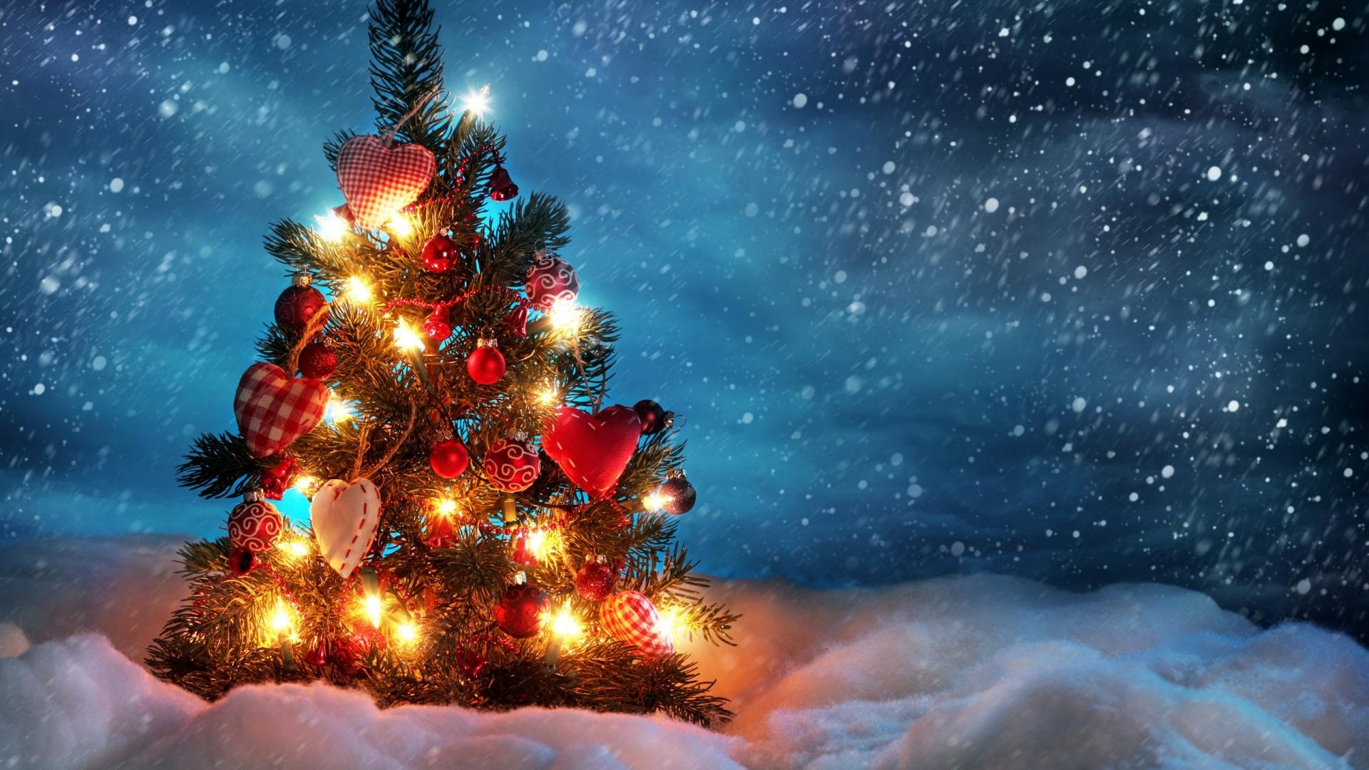 Free Download Cute Christmas Tree Computer Desktop Wallpaper