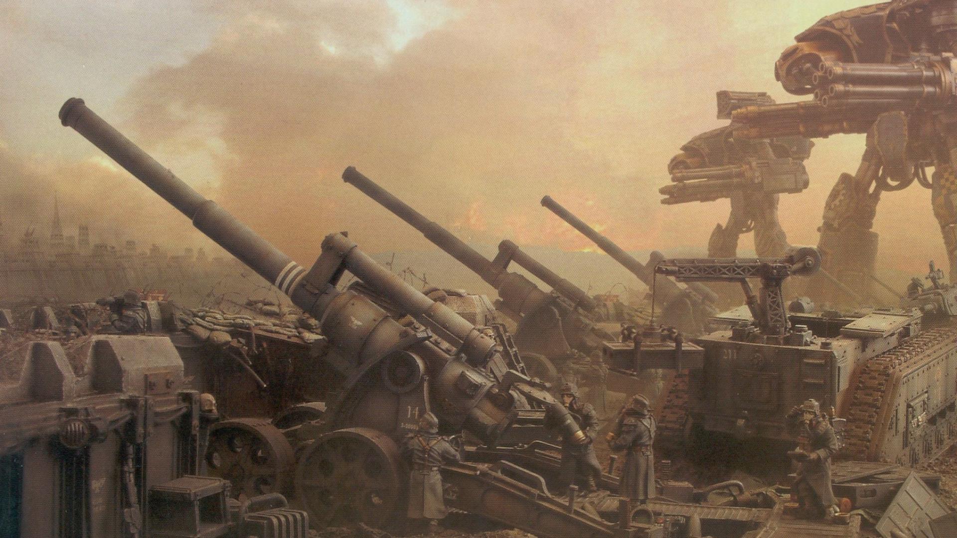 Free Download War Titans Tanks Imperial Guard Artillery Sci Fi