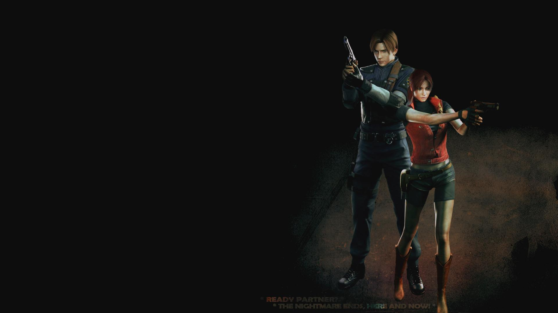 Free Download Leon And Claire Resident Evil 2 Hd Wallpaper