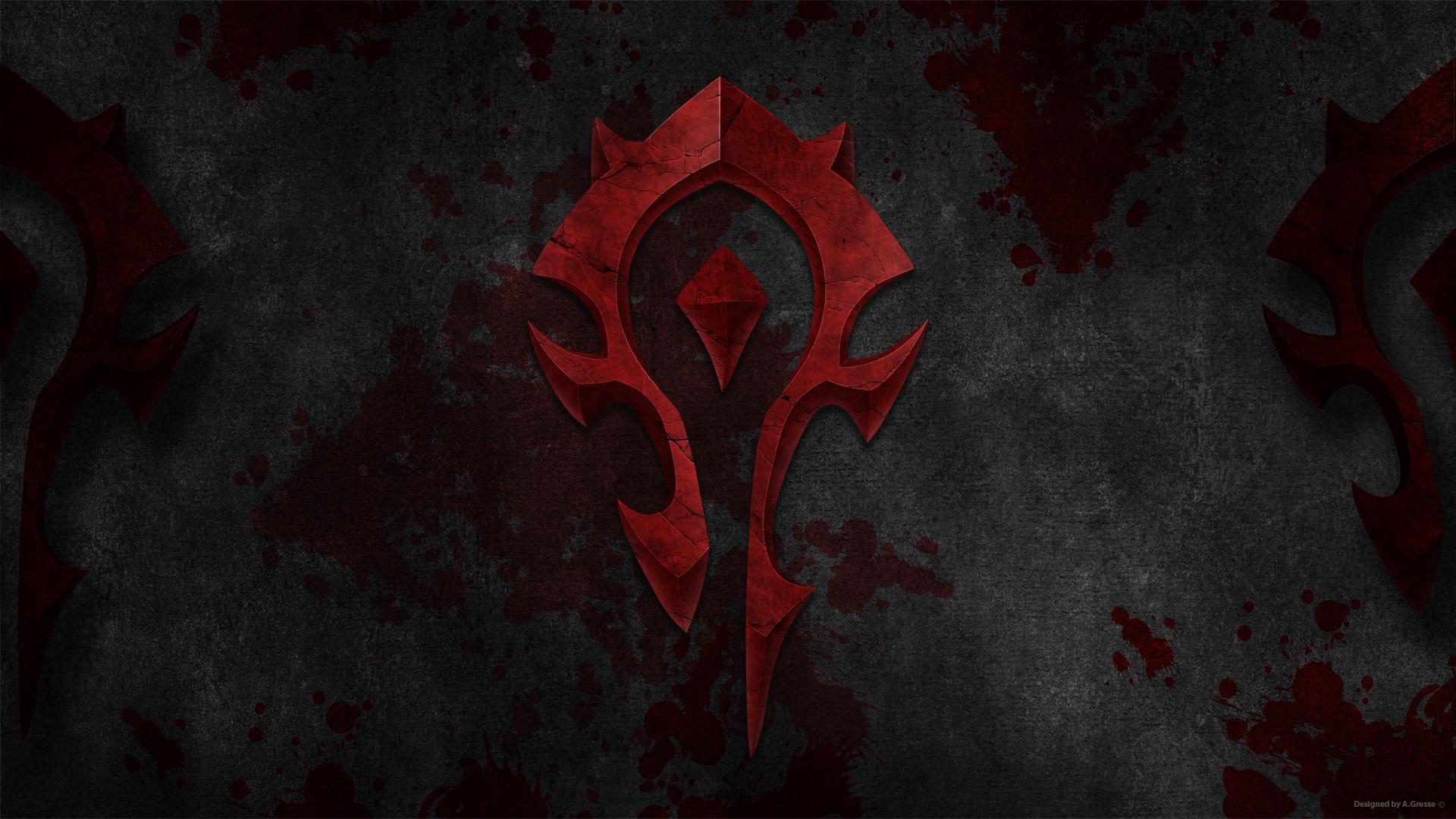 Free Download Wow Horde Logo Wallpaper By Gwinnblade Fan Art