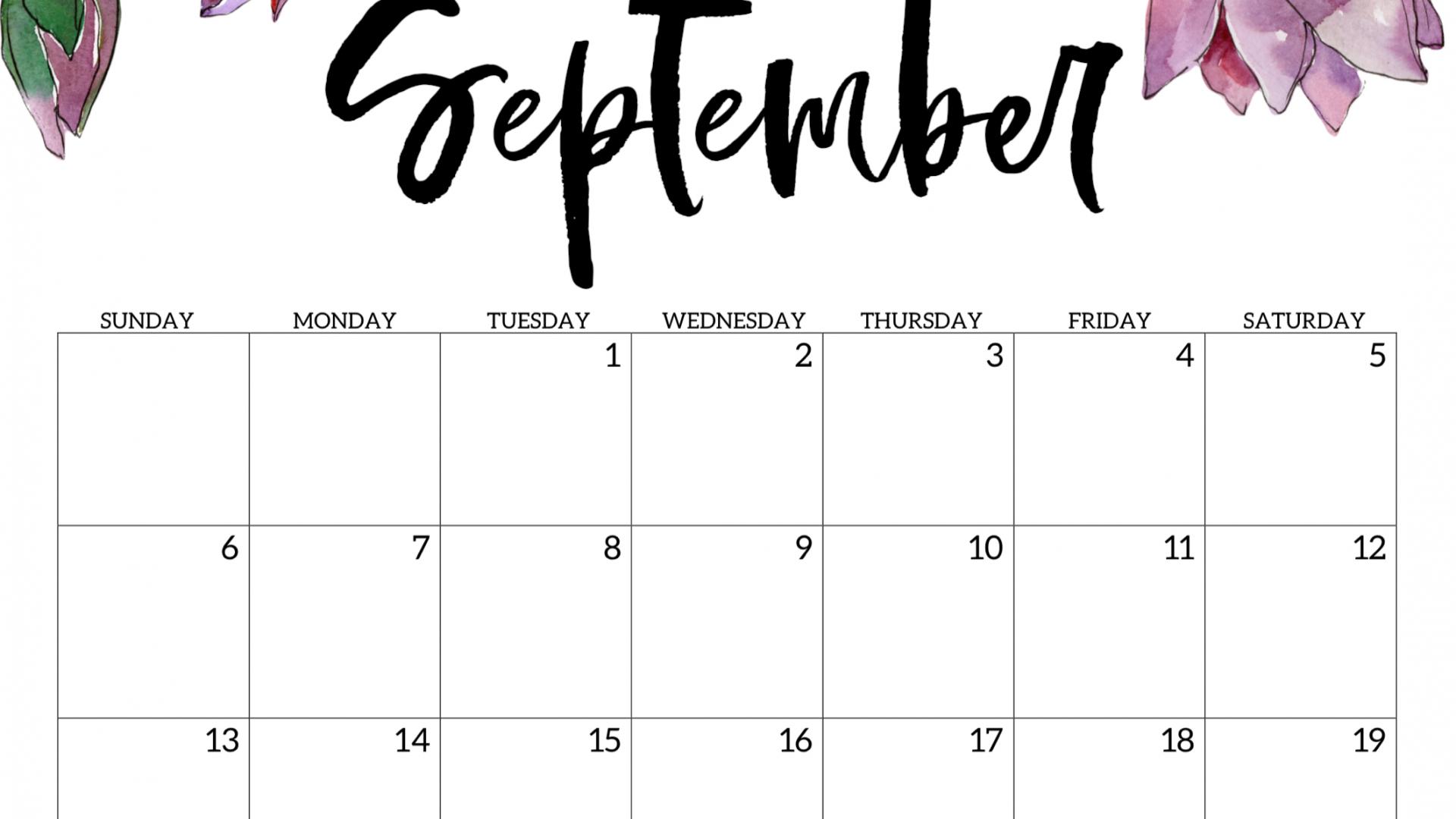 Free download Cute September 2020 Calendar 2020 Calendar ...