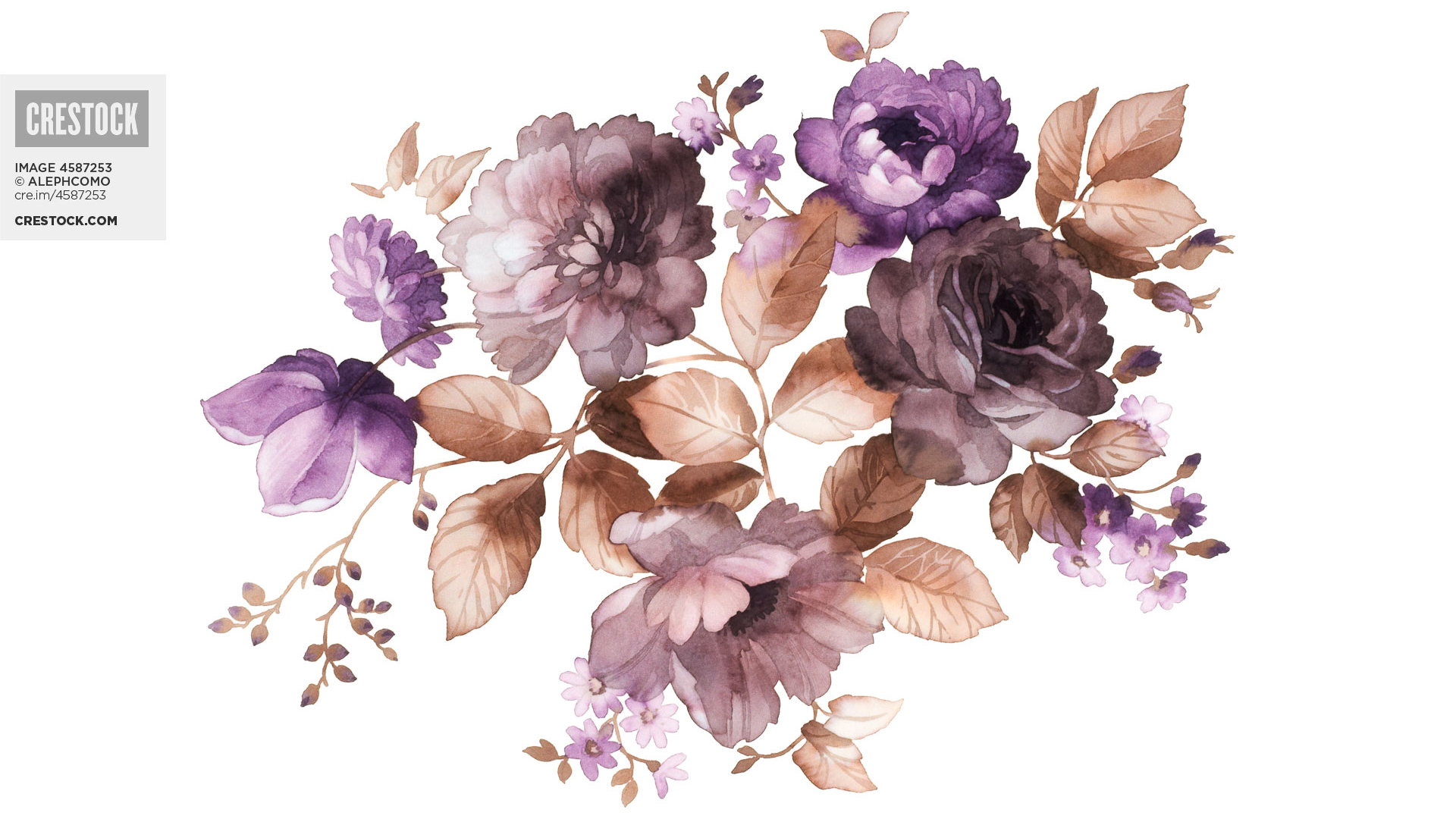 Free Download Wallpaper From Crestock Watercolor Flowers Blog