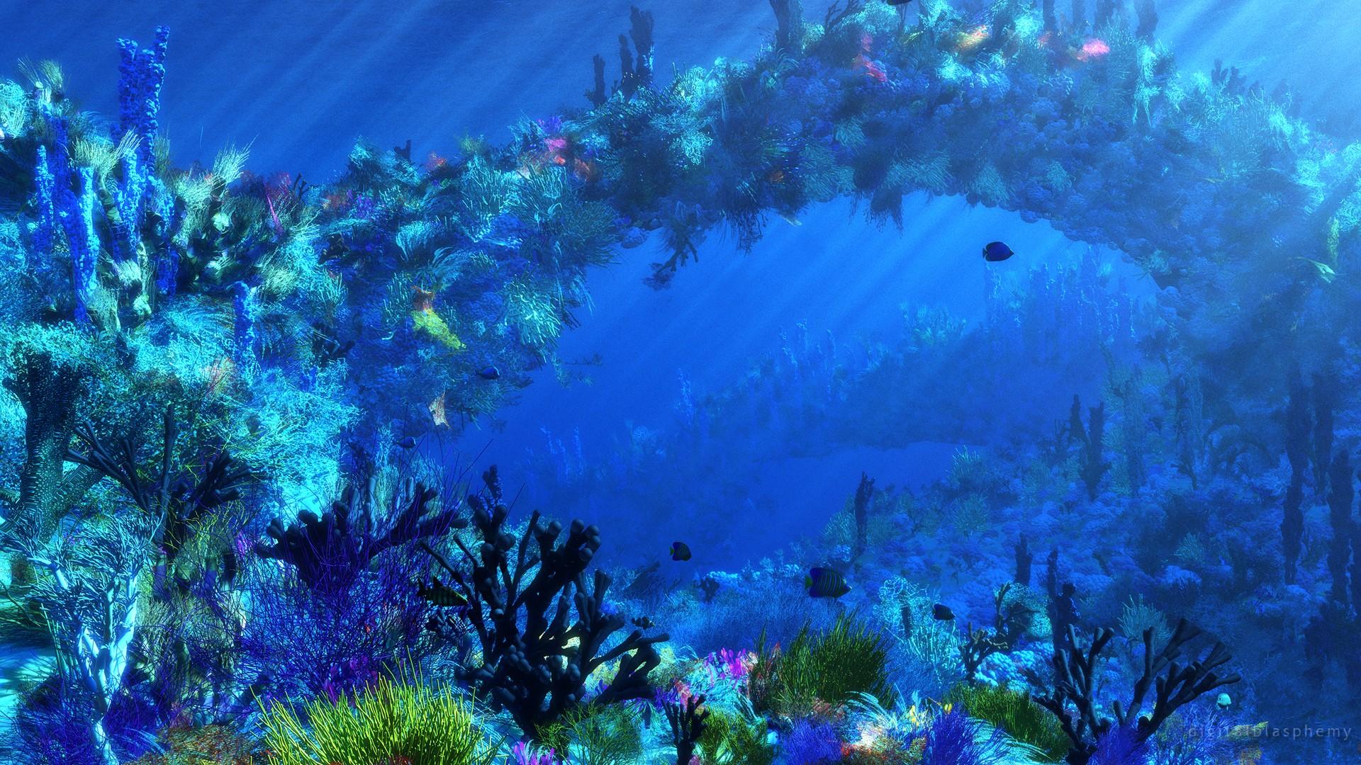 1920x1080px Underwater Ocean Wallpaper