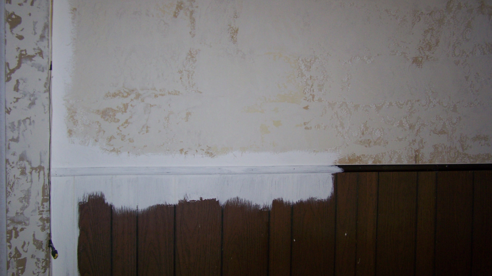 Paint Faux Wood Paneling Or Fake