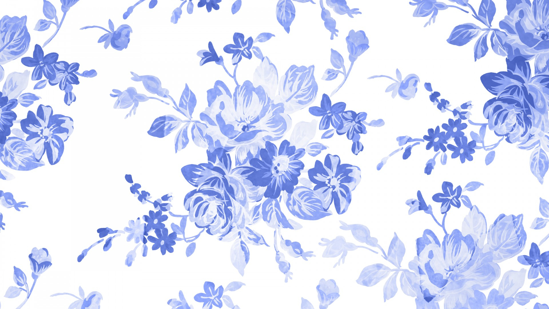 Free Download Blue Floral Watercolor Background Stock Photo Hd