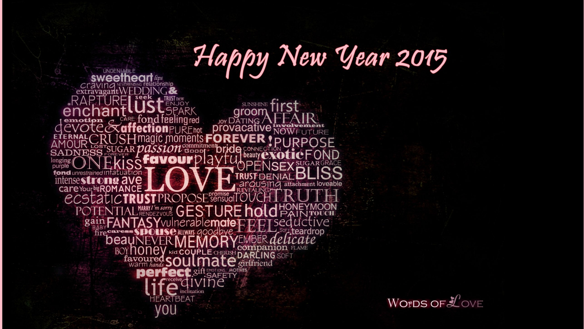love words happy new year heart quotes