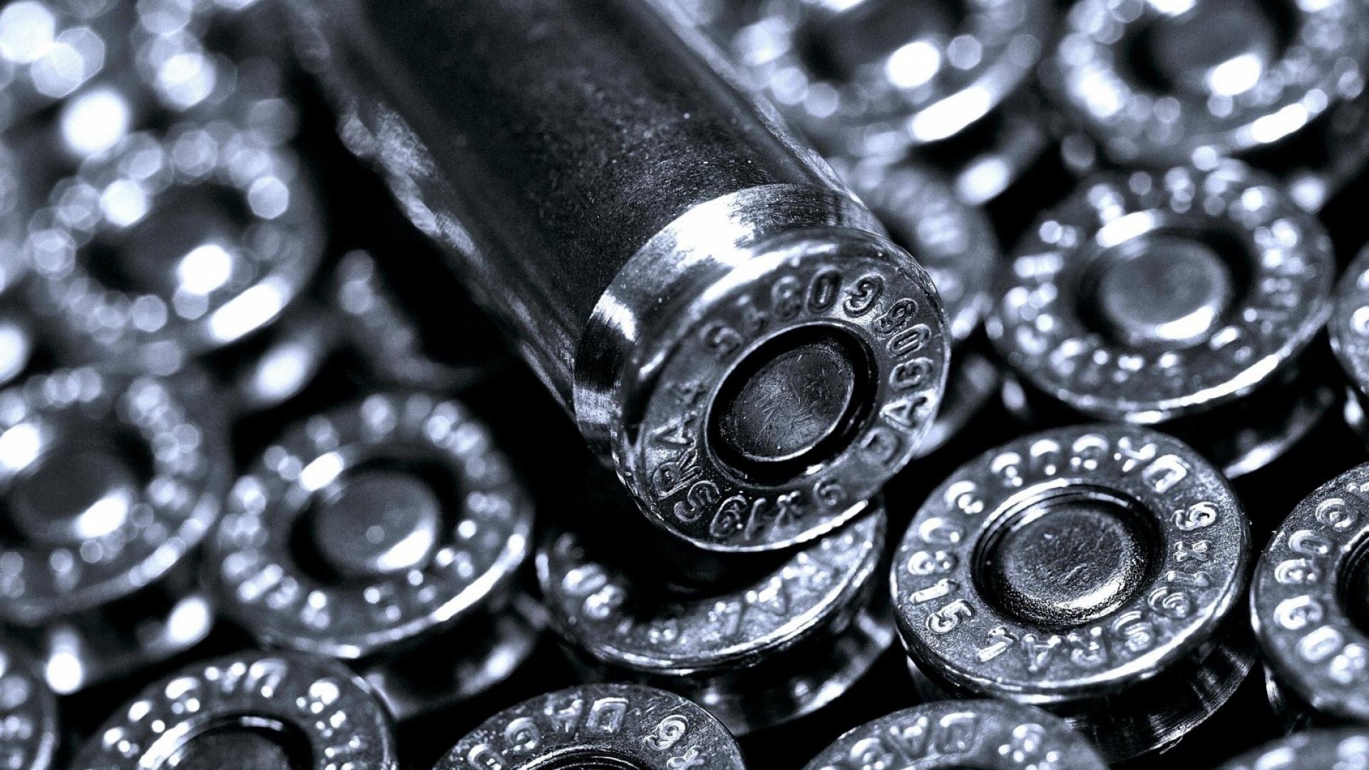 Free Download Bullets Metal Black White Silver Wallpaper